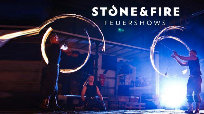 Feuershow Ston&Fire - Auftritt zu dritt - Jonglage mit Feuertöpfen